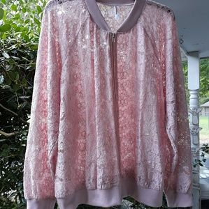 LACY DUSTY ROSE- COLORED JACKET, XL